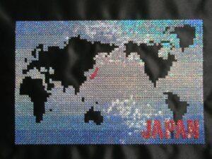 世界地図 青05